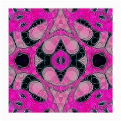 Pink Black Abstract  Medium Glasses Cloth