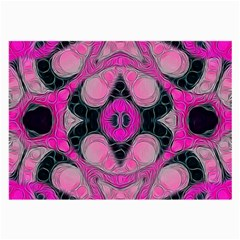 Pink Black Abstract  Large Glasses Cloth