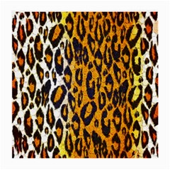 Brown Cheetah Abstract  Medium Glasses Cloth