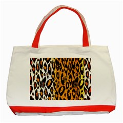 Cheetah Abstract Pattern  Classic Tote Bag (red)