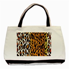 Cheetah Abstract Pattern  Basic Tote Bag (two Sides)