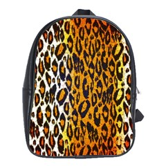 Cheetah Abstract Pattern  School Bags (XL)