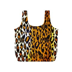 Cheetah Abstract Pattern  Full Print Recycle Bags (S)