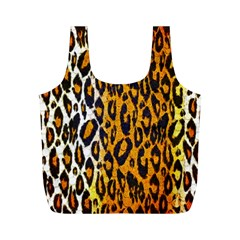 Cheetah Abstract Pattern  Full Print Recycle Bags (m)
