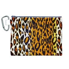 Cheetah Abstract Pattern  Canvas Cosmetic Bag (XL)