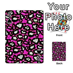 Pink Black Cheetah Abstract  Playing Cards 54 Designs