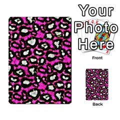 Pink Black Cheetah Abstract  Multi Purpose Cards (rectangle)