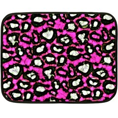Pink Black Cheetah Abstract  Fleece Blanket (mini)