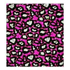Pink Black Cheetah Abstract  Shower Curtain 66  x 72  (Large)
