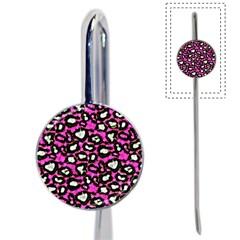 Pink Black Cheetah Abstract  Book Mark
