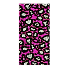 Pink Black Cheetah Abstract  Shower Curtain 36  x 72  (Stall)