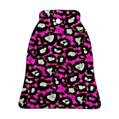 Pink Black Cheetah Abstract  Bell Ornament (2 Sides)