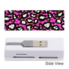 Pink Black Cheetah Abstract  Memory Card Reader (stick)