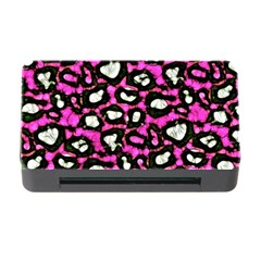 Pink Black Cheetah Abstract  Memory Card Reader With Cf