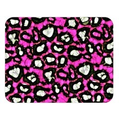 Pink Black Cheetah Abstract  Double Sided Flano Blanket (large)