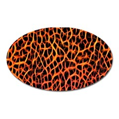 Lava Abstract Pattern  Oval Magnet