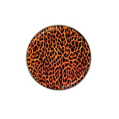 Lava Abstract Pattern  Hat Clip Ball Marker
