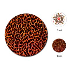 Lava Abstract Pattern  Playing Cards (Round)