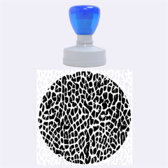 Lava Abstract Pattern  Rubber Round Stamps (Large)