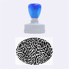 Lava Abstract Pattern  Rubber Oval Stamps