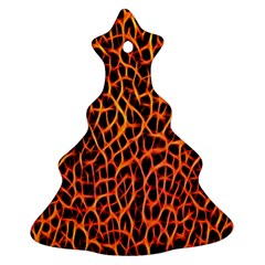 Lava Abstract Pattern  Christmas Tree Ornament (2 Sides)