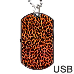 Lava Abstract Pattern  Dog Tag USB Flash (Two Sides)
