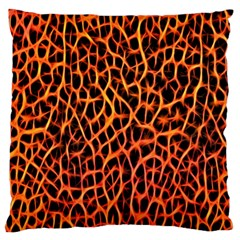 Lava Abstract Pattern  Standard Flano Cushion Cases (two Sides)
