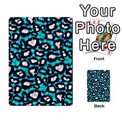 Turquoise Black Cheetah Abstract  Multi-purpose Cards (Rectangle)