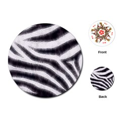 Black&white Zebra Abstract Pattern  Playing Cards (round)