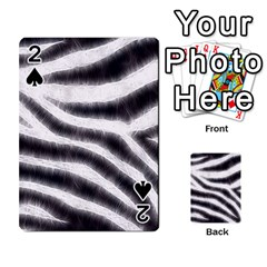 Black&White Zebra Abstract Pattern  Playing Cards 54 Designs