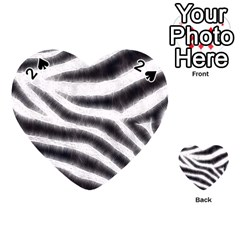 Black&white Zebra Abstract Pattern  Playing Cards 54 (heart)