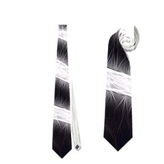 Black&white Zebra Abstract Pattern  Neckties (one Side)