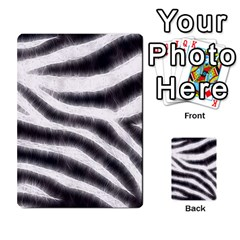 Black&White Zebra Abstract Pattern  Multi-purpose Cards (Rectangle)