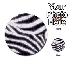 Black&White Zebra Abstract Pattern  Multi-purpose Cards (Round)
