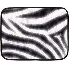 Black&White Zebra Abstract Pattern  Fleece Blanket (Mini)