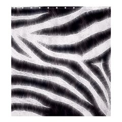 Black&White Zebra Abstract Pattern  Shower Curtain 66  x 72  (Large)