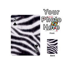 Black&White Zebra Abstract Pattern  Playing Cards 54 (Mini)