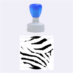 Black&white Zebra Abstract Pattern  Rubber Round Stamps (medium)
