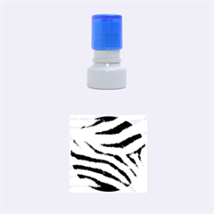 Black&White Zebra Abstract Pattern  Rubber Round Stamps (Small)