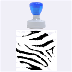 Black&white Zebra Abstract Pattern  Rubber Round Stamps (large)