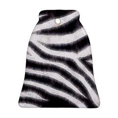 Black&White Zebra Abstract Pattern  Bell Ornament (2 Sides)