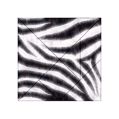 Black&White Zebra Abstract Pattern  Acrylic Tangram Puzzle (4  x 4 )