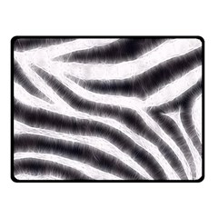 Black&White Zebra Abstract Pattern  Double Sided Fleece Blanket (Small)
