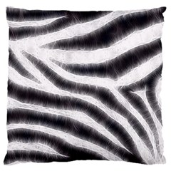 Black&white Zebra Abstract Pattern  Large Flano Cushion Cases (one Side)