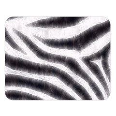Black&White Zebra Abstract Pattern  Double Sided Flano Blanket (Large)