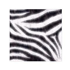 Black&White Zebra Abstract Pattern  Small Satin Scarf (Square)