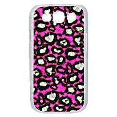 Pink Black Cheetah Abstract  Samsung Galaxy S III Case (White)