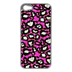 Pink Black Cheetah Abstract  Apple iPhone 5 Case (Silver)