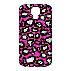 Pink Black Cheetah Abstract  Samsung Galaxy S4 Classic Hardshell Case (PC+Silicone)