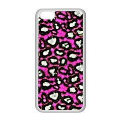 Pink Black Cheetah Abstract  Apple iPhone 5C Seamless Case (White)